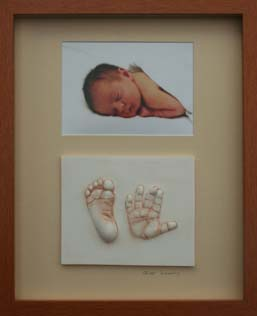 baby hand and foot imprints